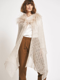 Lace Feather Cape